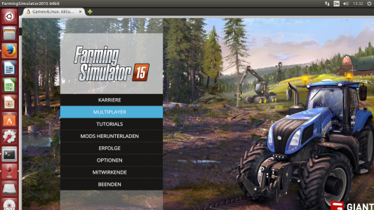 Screenshot FarmingSimulator 2015 auf Linux