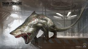 Konzeptzeichung einer Kreatur als Gegner im Survival Modus.