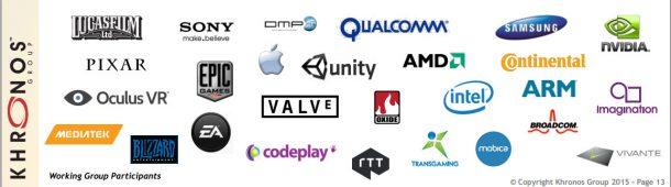 Sehr viele Firmen unterstützen die Zukunft von Vulkan.
