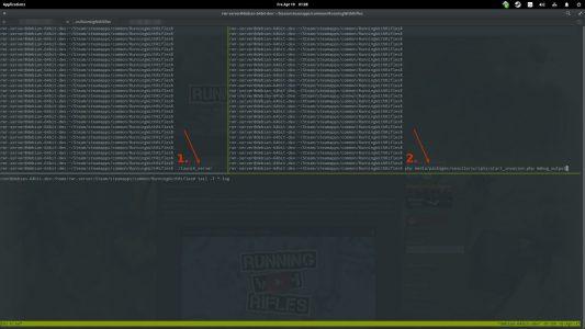 Einerseits muss ./launch_server gestartet werden, danach erst parallel mit php das jeweilige Spielmodi-Startscript.