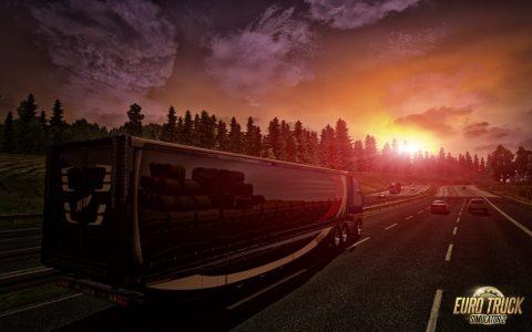 Euro_Truck_Simulator_sunset_Sonnenuntergang_LINUX