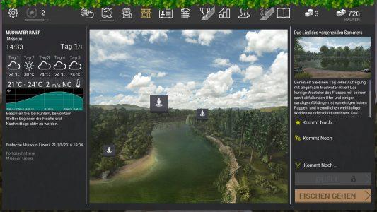 Vor Ort kann ich den meinen Angler Spot wählen. Er kann jederzeit geändert werden.