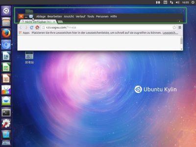 Ubuntu Kylin Application Toolbar
