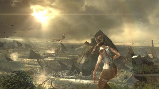 Lara erleidet Schiffbruch und entkommt nur knapp dem Ende.