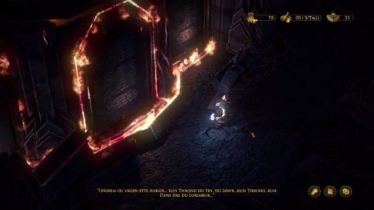 Die Zwerge (The Dwarves): Der Adventure-Bereich erzählt die Geschichte und bietet optionale Rätsel.