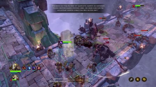 Die Zwerge (The Dwarves): Kampf der Helden gegen eine Übermacht an Orks. diese RPG-Kämpfe stellen den Kern des Spiels dar.