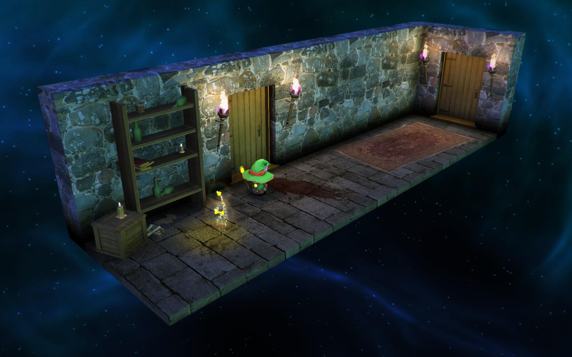 Lumo - Zauberer balanciert auf einer Kugel