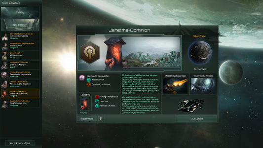 Stellaris bietet acht verschiedene Standardrassen.