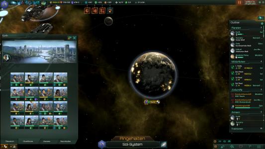 Die Erde in ihrer Stellaris-Ausführung.