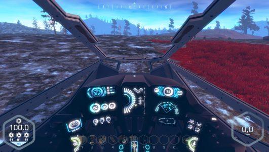 Die Cockpit-Perspektive in der Alpha 0.3.2 von Planet Nomads