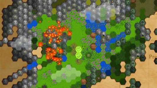 Als Konsequenz eines Schatzraubs breitet sich ein großes Feuer aus.