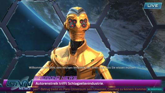 Der Sender GNN präsentiert die Nachrichten der Galaxie