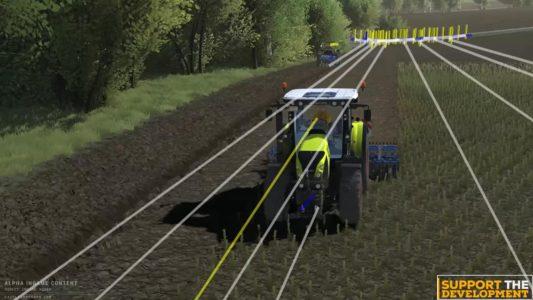 Die KI bei Cattle and Crops zieht ihre Bahnen mit dem Traktor auf dem Feld.